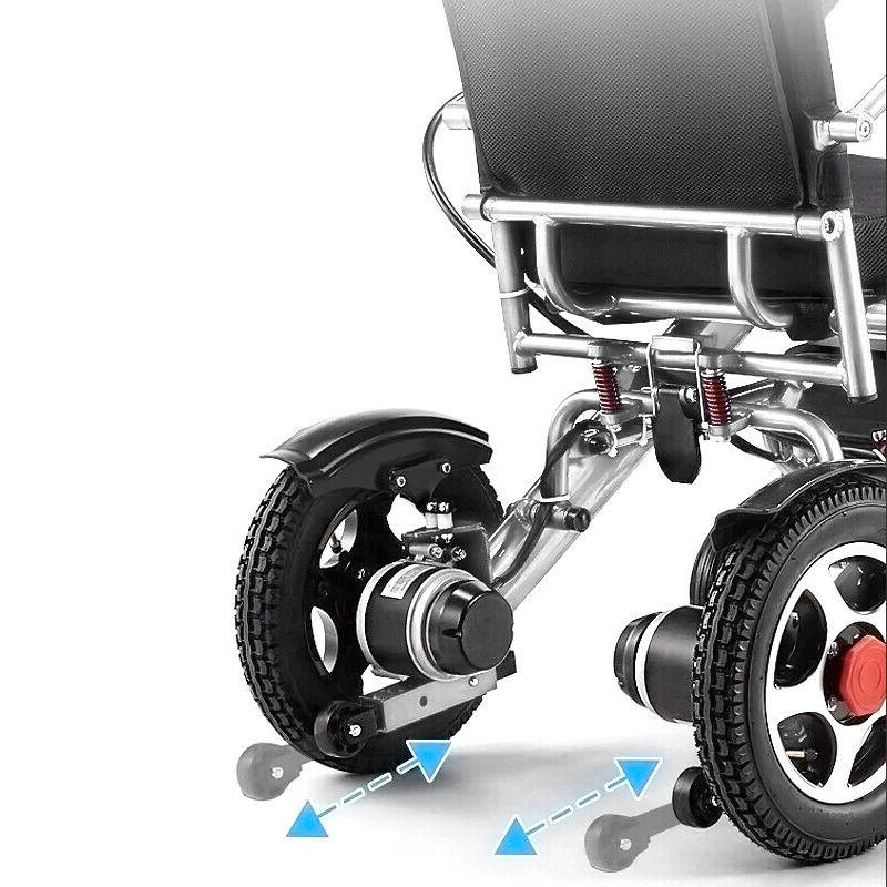 Electric Wheelchair chair Lightweight Aid Motorized Folding