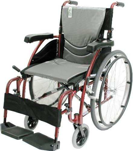 Karman Healthcare Ultra Lightweight Manual Wheelchair, Rose Red, 16 Seat