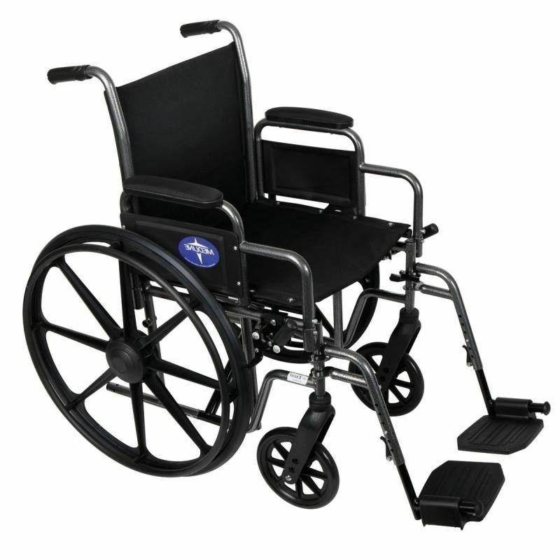 Medline Excel K1 - 20 Inch Basic Extra-Wide Wheelchair MDS80
