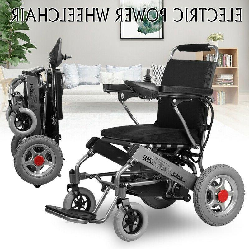Folding Electric Wheelchair Lightweight Power Medical Mobili