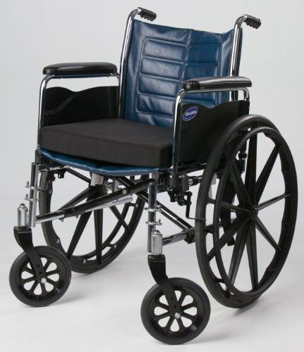 """Secure Foam Seat Safety Strap Wheelchairs and Chairs, 18"""" 3"""" Tailbone Back Support"""