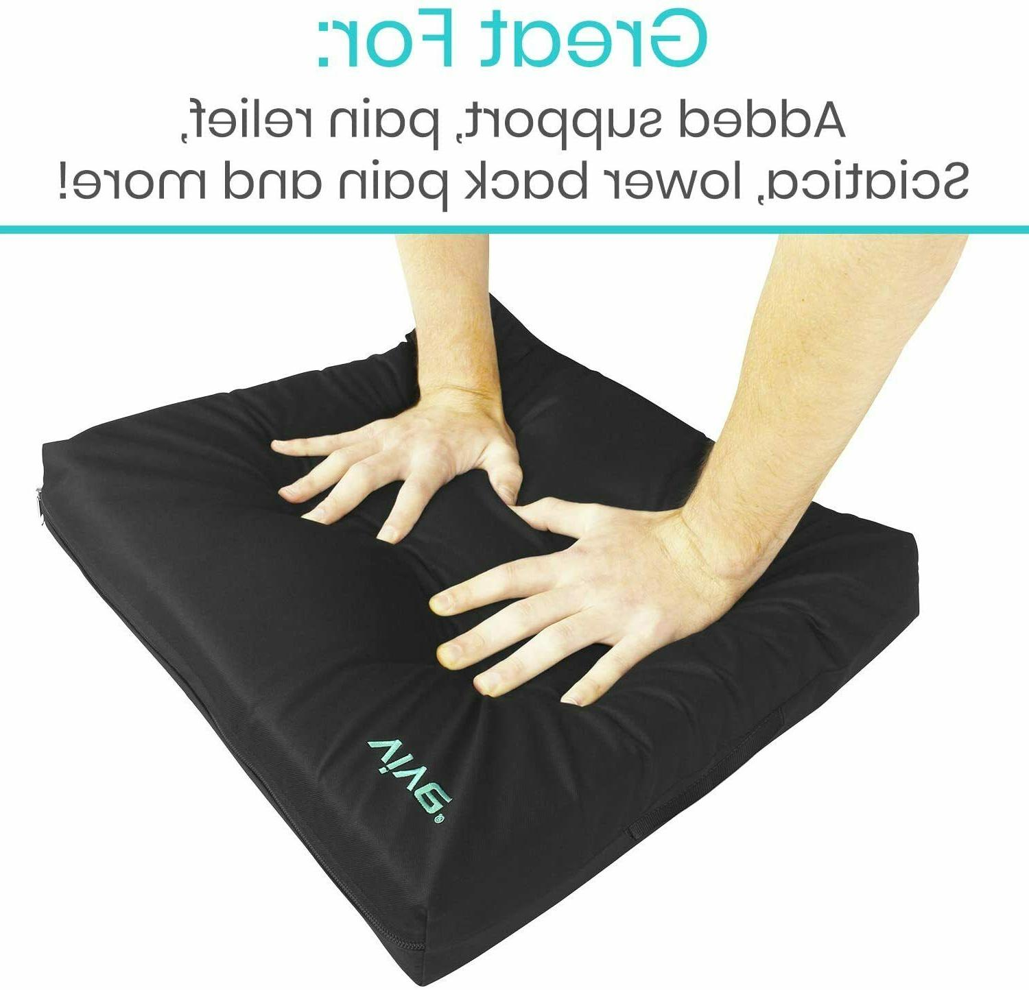 VIVE GEL 18x16 PAD BACK SUPPORT PAIN RELIEF FOAM WHEELCHAIR