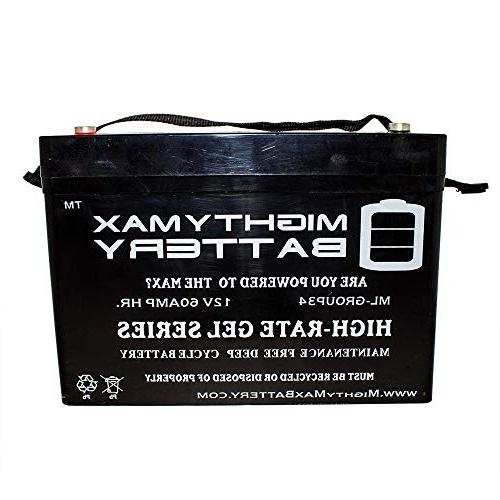 12V 34 Battery Permobil PS Mighty Max