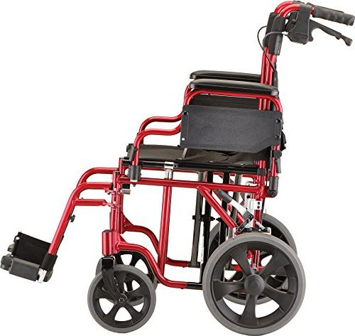 NOVA Extra Wide Heavy Duty Transport with Locking Flip Up for Easy Weight Capacity, Anti-Tippers Red