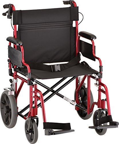 NOVA Extra Heavy Duty with Locking Brakes, Flip for Easy Weight Red