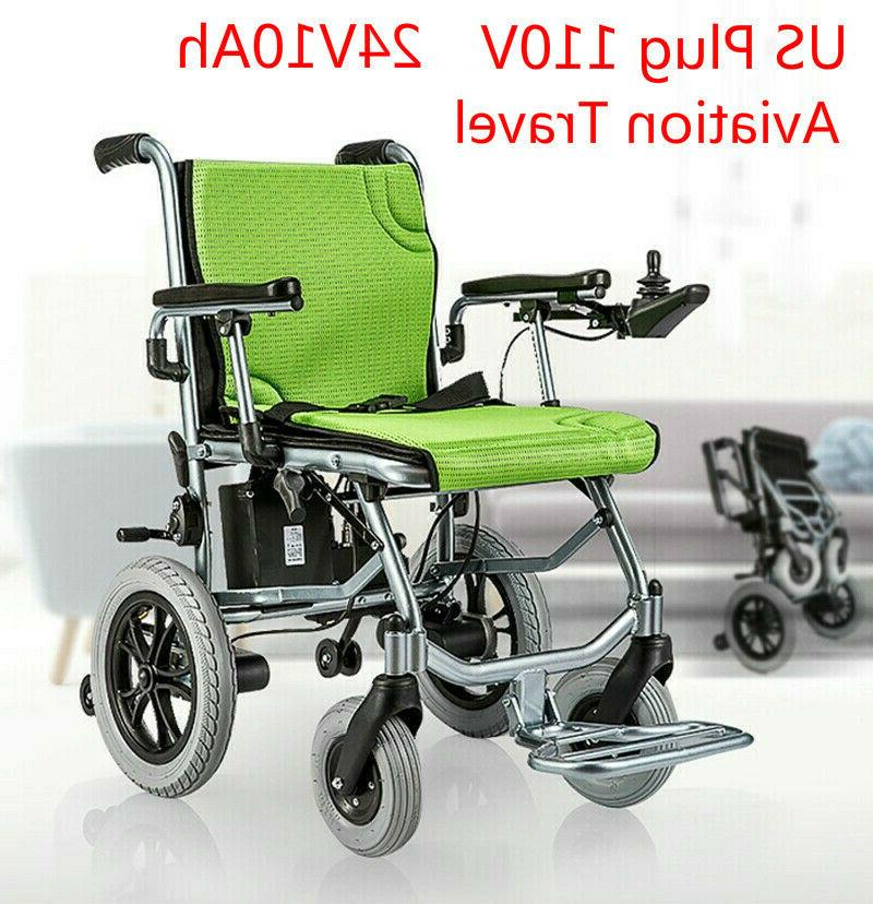 New Folding Lightweight Electric Power Wheelchair Mobility A