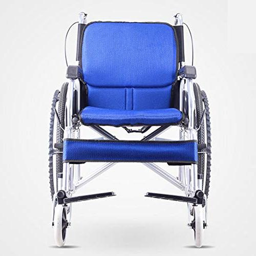 Household Alloy Wheelchair, Lightweight Portable Ultra Light Old Man Trolley Wheelchair