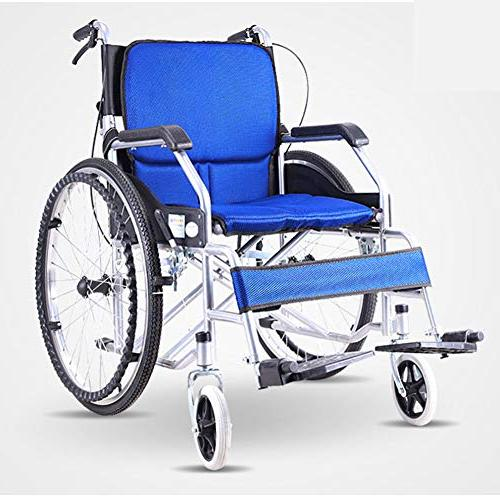 Household Folding Aluminum Wheelchair, Lightweight Light Trolley