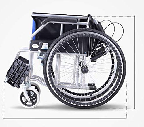 Household Folding Aluminum Alloy Wheelchair, Lightweight Portable Light Old Man Trolley Disabled