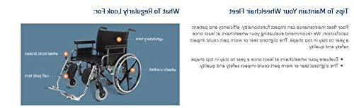 Medline Strong Sturdy Wheelchair with and Swing-Away Leg Seat