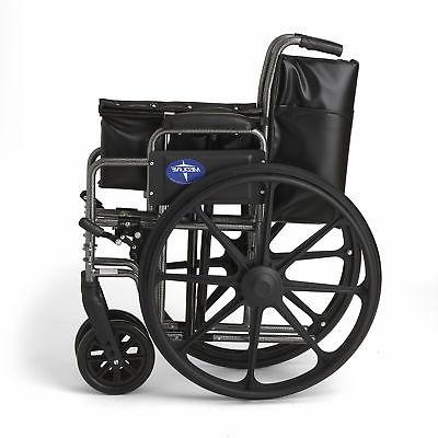 """Medline K2 Wheelchair with 20""""x16"""" Away Footrests-"""