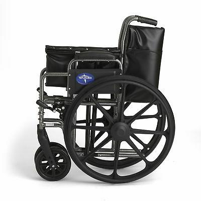 "Medline K2 Wheelchair with 20""x16"" Away Footrests-"