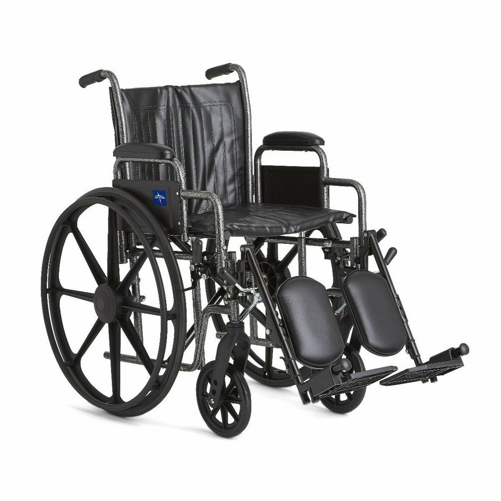 Medline Wheelchair with 18Wx16D - Elevating Legrests