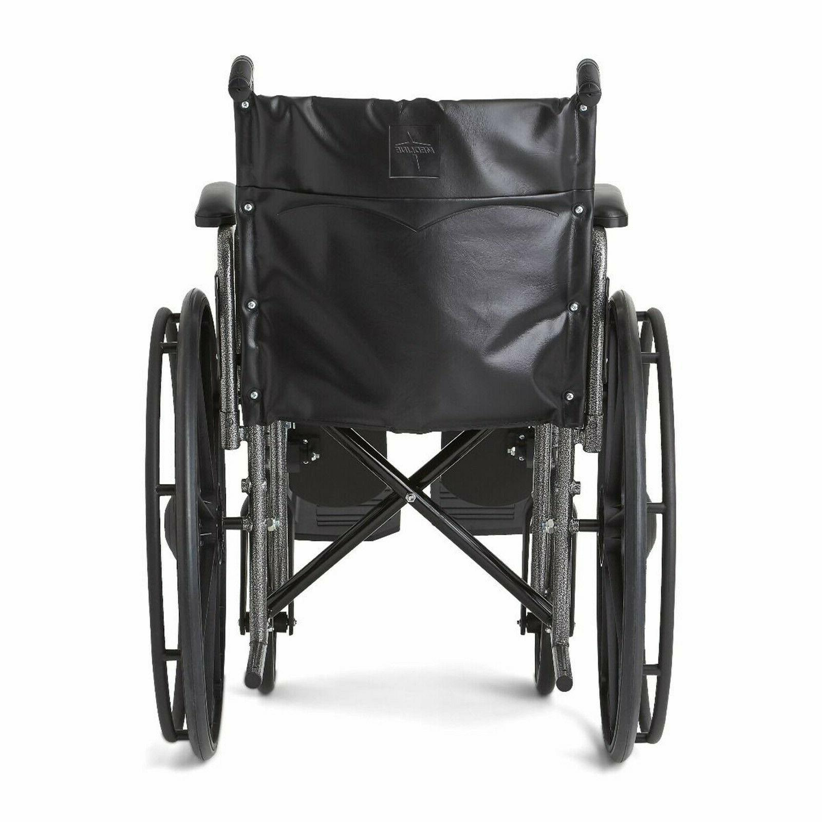 Medline Basic Wheelchair with 18Wx16D Elevating MDS806300EV
