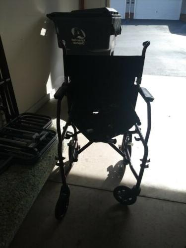 "Medline Wheelchair with 20""x16"" Swing Away Footrests-"