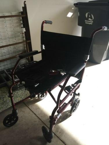 k2 basic wheelchair with 20 x16 seat