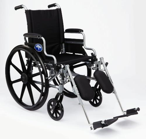 Medline User-Friendly Wheelchair Arms and Rests for Extra Comfort, Gray,
