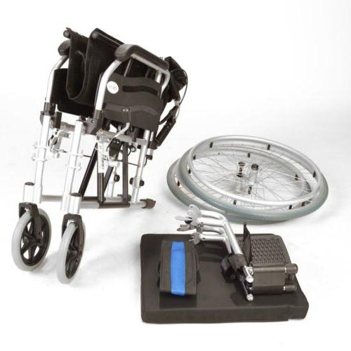 Lightweight folding self wheelchair brakes ECSP01-20