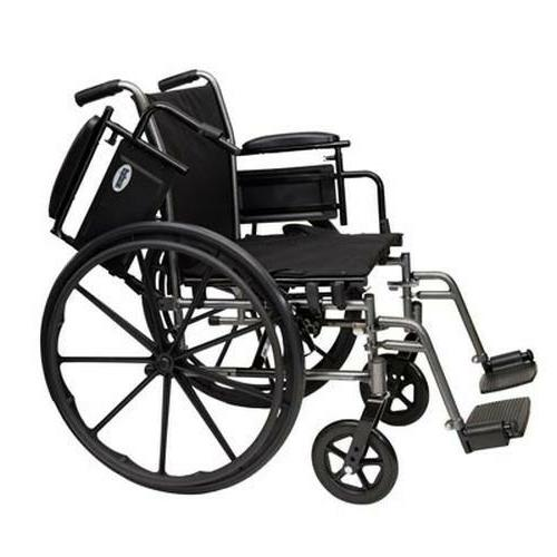 "Probasics 18"" Lightweight Folding Wheelchair w/ Swingaway Le"
