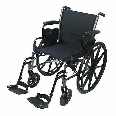 "McKesson Lightweight Wheelchair Steel 18""W Swing-Away Footre"
