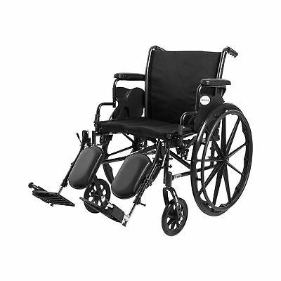 "McKesson Lightweight Wheelchair Steel 20""W Swing-Away Footre"