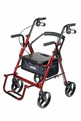 Drive Function Transport Wheelchair Rollator,
