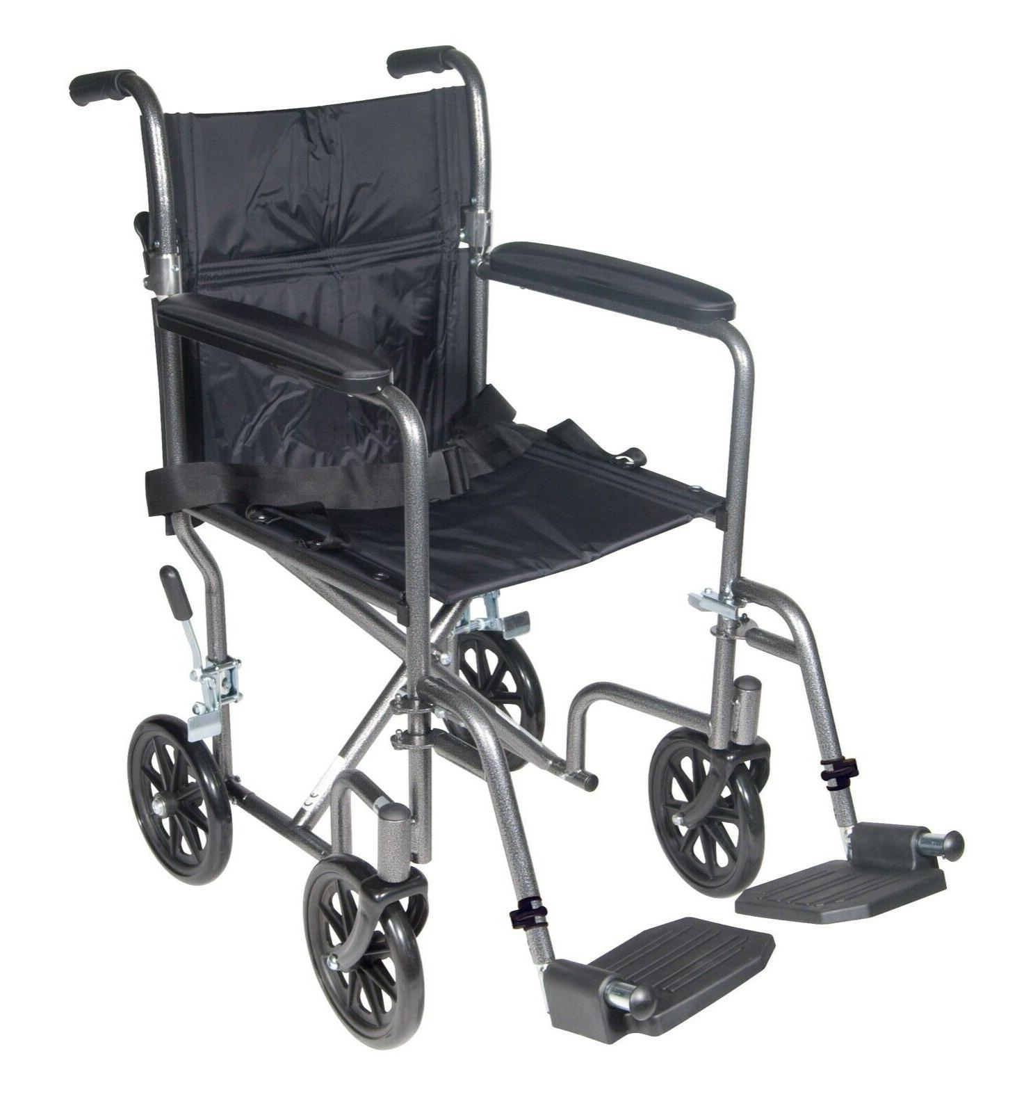 medical tr37e sv lightweight steel transport wheelchair