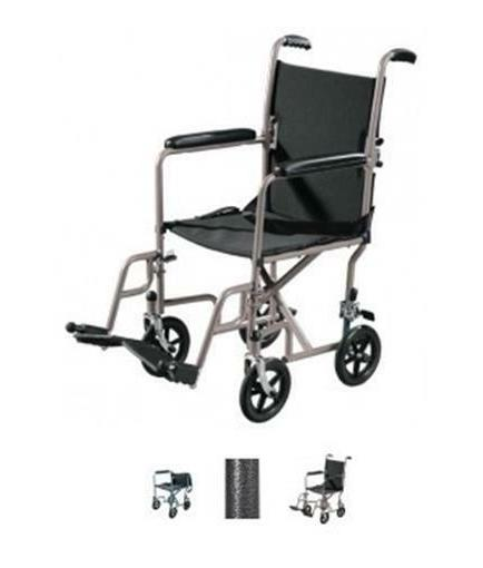 medical tr37e sv steel transport chair 17