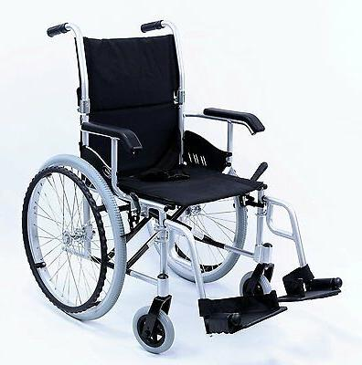 "New Compact 18"" Wheelchair Folding Footrest Silver"