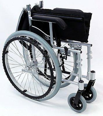 "New Karman Compact 18"" Wheelchair Footrest Silver"