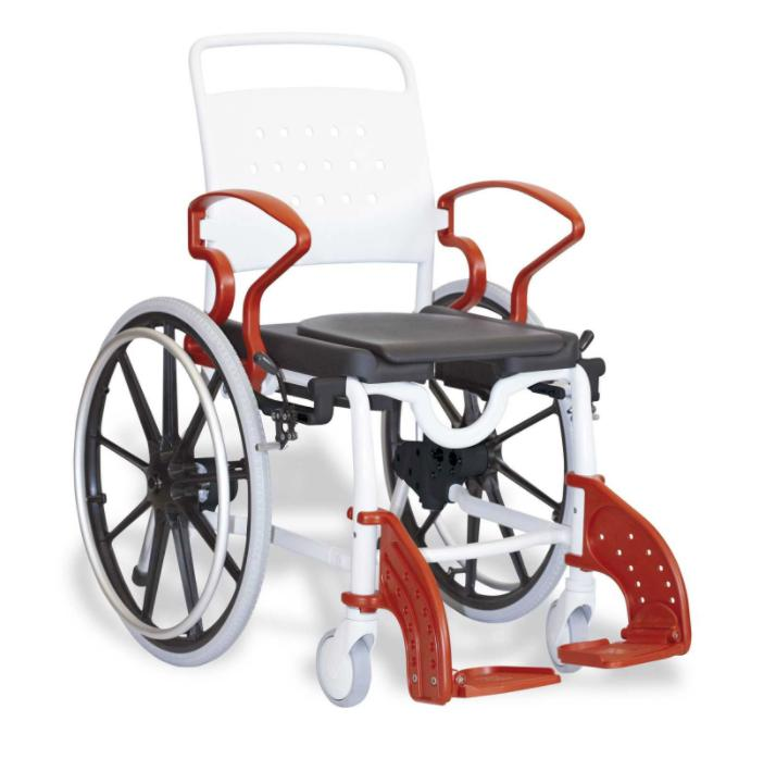 NEW REBOTEC GENF SELF PROPELLED SHOWER MOBILE COMMODE WHEELC