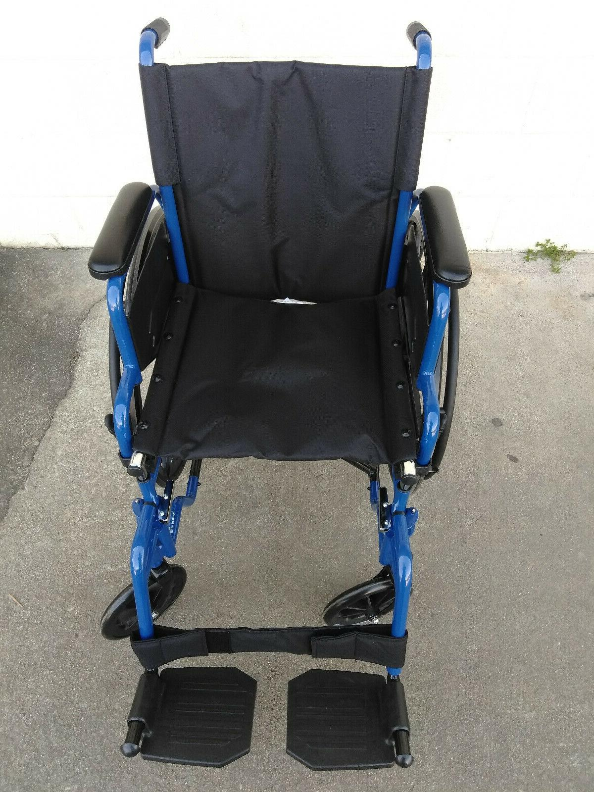 NEW Drive Medical Blue Streak Wheelchair Flip Back