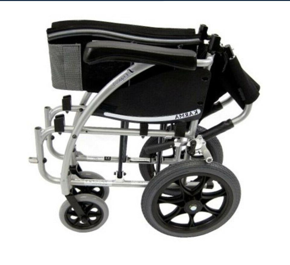 New Karman 115 Transport Wheelchair with Hand