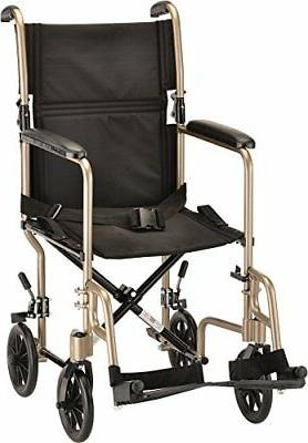 new steel transport chair champaign 19 inch