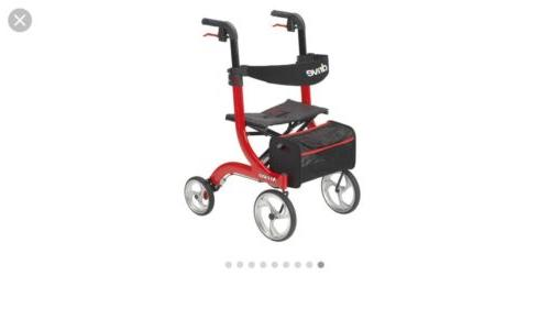nitro euro red rollator walker