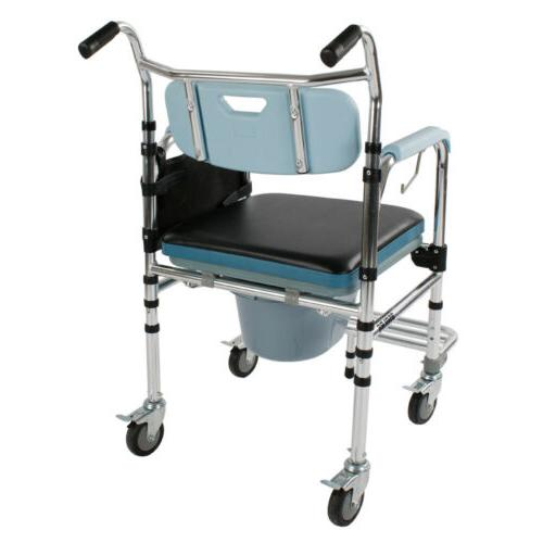 New Shower Commode Wheelchair Toilet &