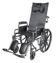 "McKesson Reclining Wheelchair Steel 18""W x 16""D Elevating Le"