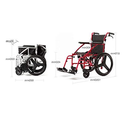 Wheelchairs Self-Propelled Multi-Purpose Lightweight Thickening and Elderly can take Plane MedicalSupp