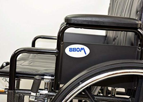 Self Seat Bariatric with Elevating and Dual Capacity Detachable Arms