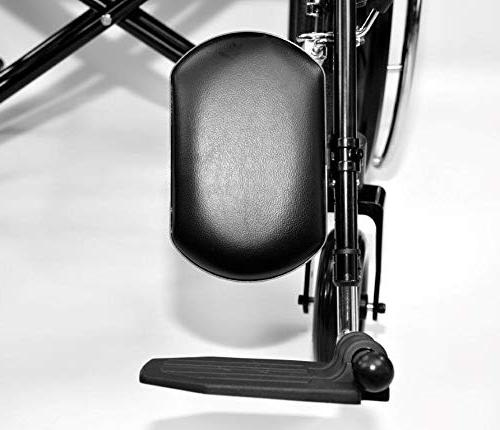 Self Manual Seat Bariatric Wheelchair with Elevating Rest Dual Capacity Detachable Arms