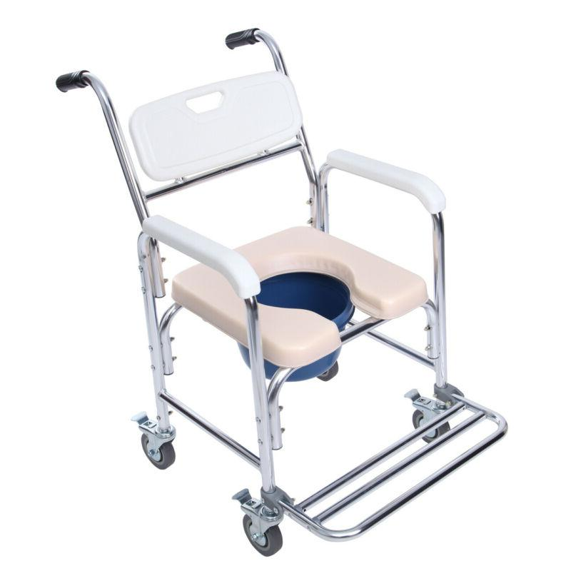 Shower Bedside Commode Wheelchair Medical Toilet Chair with