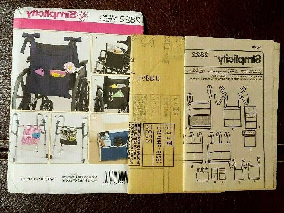 Simplicity Pattern for Wheelchair, & Lounge Chair - New