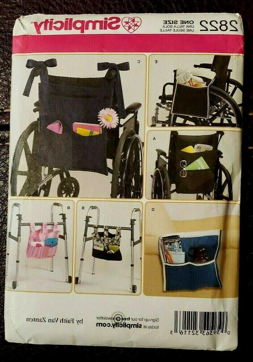 simplicity pattern 2822 accessories for wheelchair walker