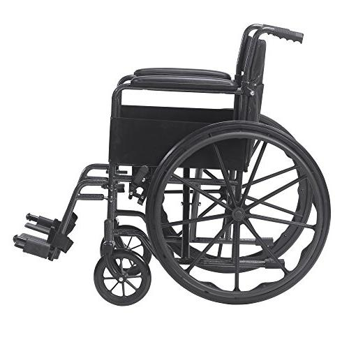 Sport Wheelchair with Full away Removable Footrest