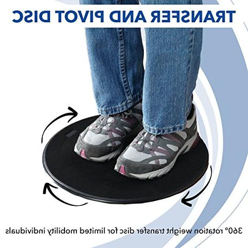 """Sammons Pivot 12"""" Weight Transfer and Mobility Aid with Degree Rotation Change Transferring Between"""