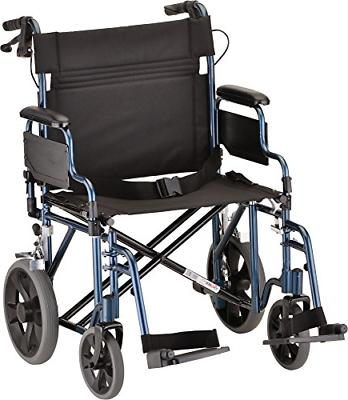 Nova Transport Chair with Hand Brakes and Swing Away Footres