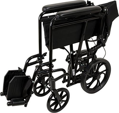 ProBasics Aluminum Wheelchair With 19 Inch - Wheel Chair For – 12-inch Rear For Smoother Ride, LB Capacity