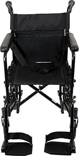 ProBasics Transport Wheelchair With 19 Seat - For Transporting – For LB Capacity