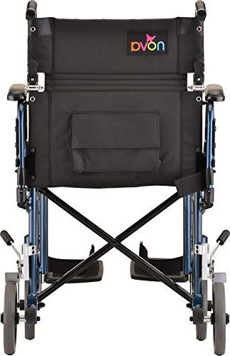 NOVA Products Transport/Wheelchair with Blue