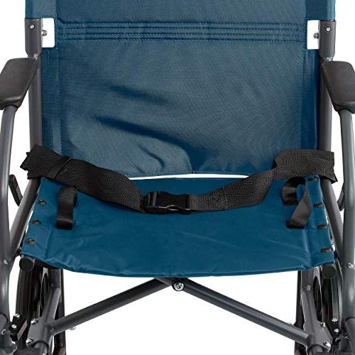 Medline Transport Wheelchair Lightweight Antimicrobial is inch Back inch